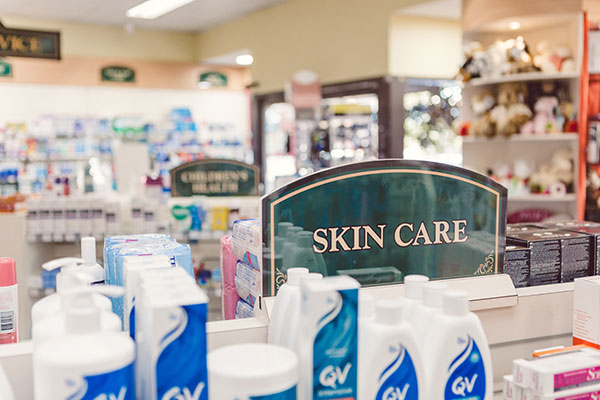 Skincare Products at the Berry Pharmacy